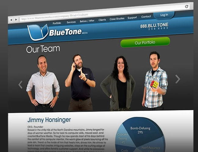 Bluetone Media, a full-service web design firm located in Historic Downtown Wilmington, NC