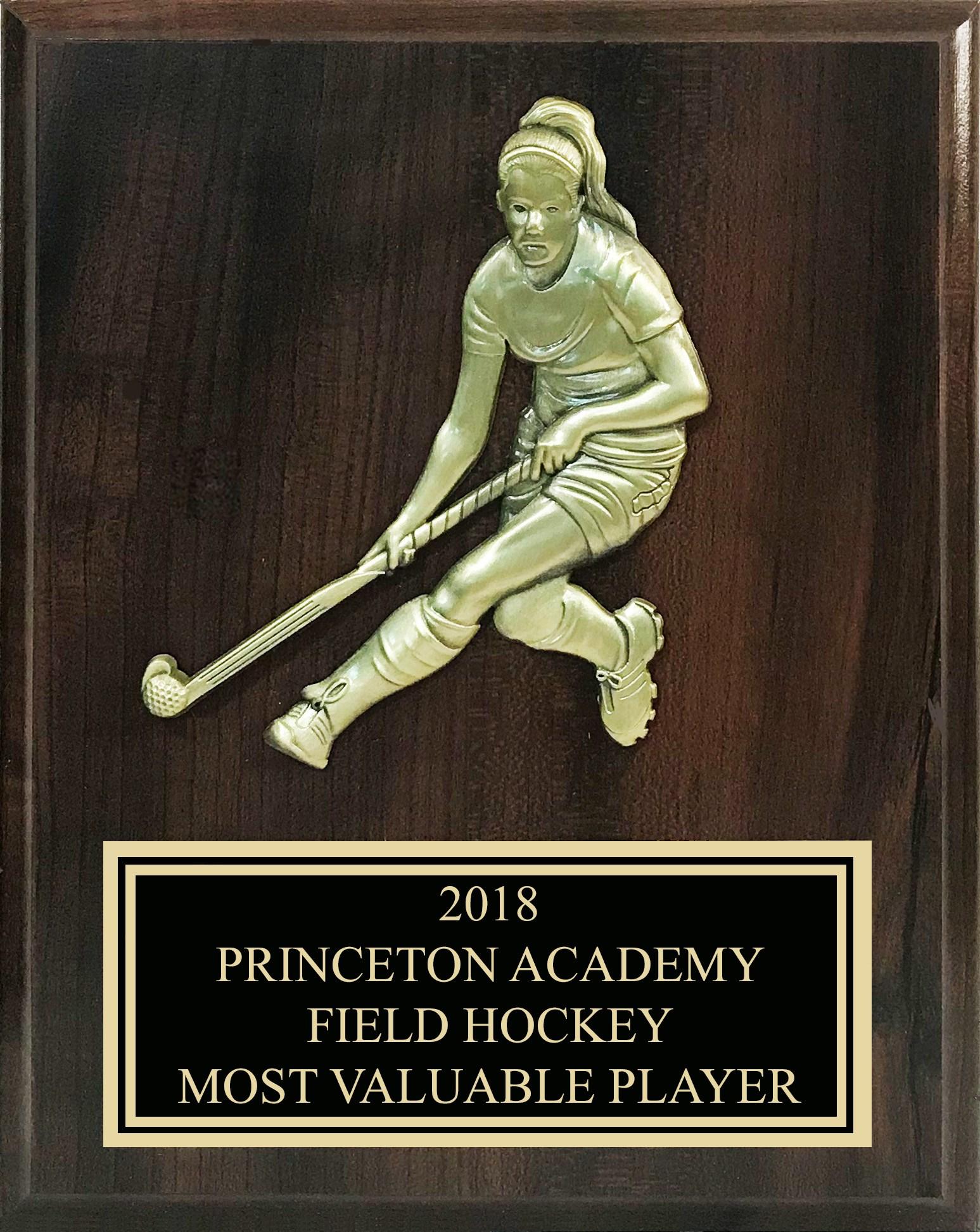FHBV810 Cherry Field Hockey Plaque