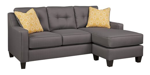 Nuvella Upholstered Sofa Chaise Gray