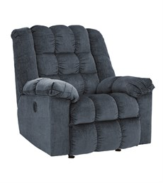 Ludden Upholstered Power Rocker Recliner Blue