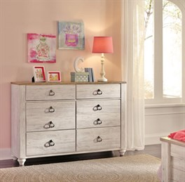 Willowton Small Dresser Whitewash