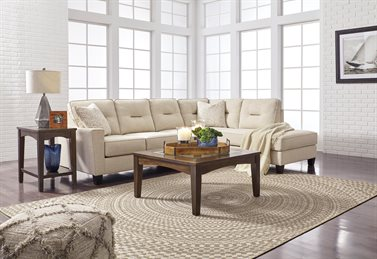 Nuvella Upholstered 2PC Sectional Sand
