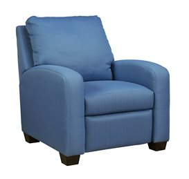 Nuvella Upholstered Low Leg Recliner Blue