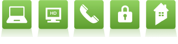Telephone, Video, Internet, Security and Home Automation