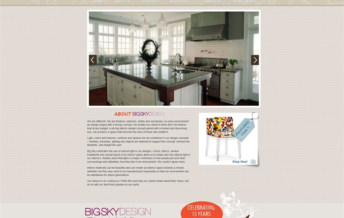 Big Sky Design's Website