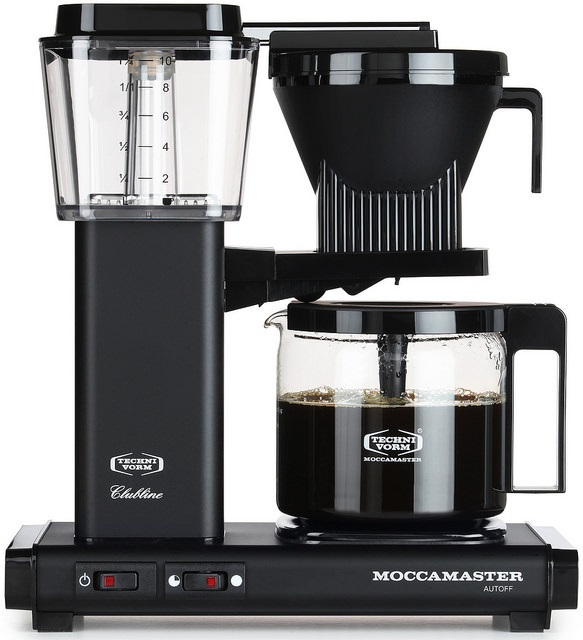 Carolina Coffee A Technivorm Moccamaster KBG Automatic Drip Stop Coffee Maker with Glass Carafe - Matte Black