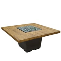 American Fyre Designs French Barrel Oak Cosmo Table