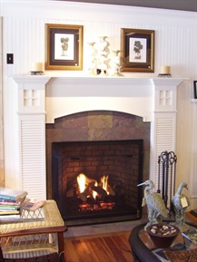beach cottage mantel