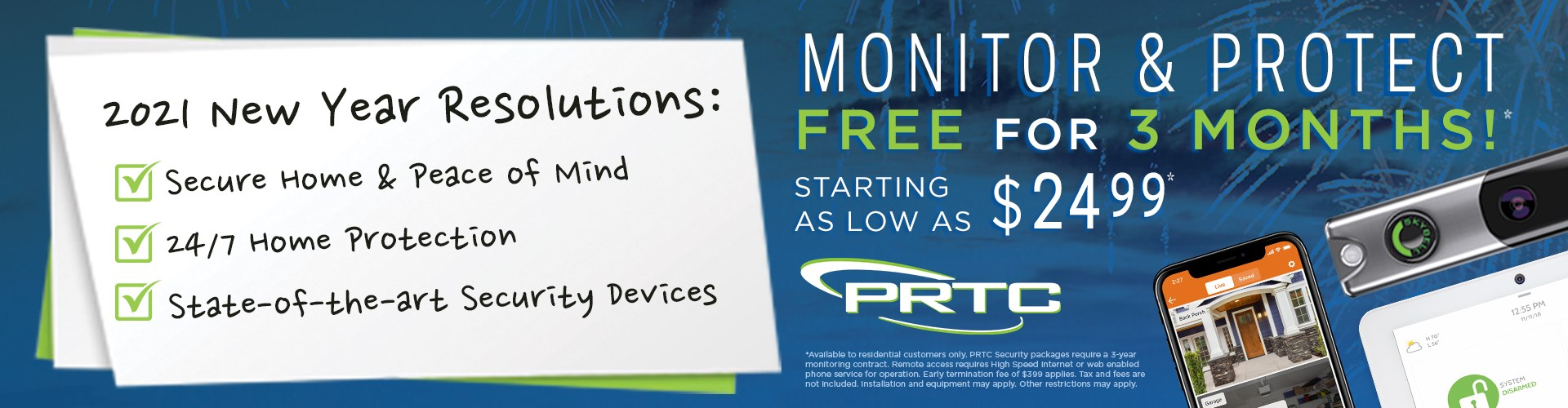 Monitor & Protect free for 3 months