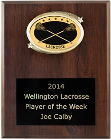 OV79 Special Value Lacrosse Plaque FREE Engraving