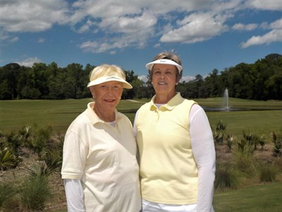 Match Play Flight 6 Winners - Joy McGavisk and Linda McCarron