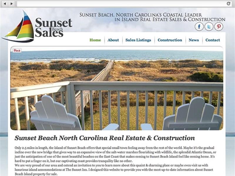 Sunset Beach Sales - Real Estate Web Design
