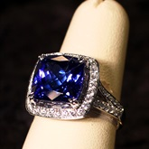 Tanzanite and Diamond Ring Set available at Albert F. Rhodes Jewelers