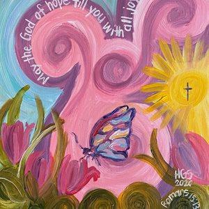 Romans 15:13 Butterfly