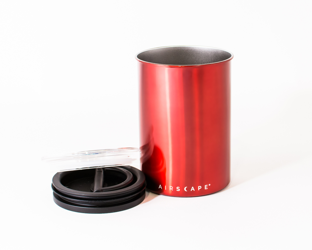 Carolina Coffee AIRSCAPE® CLASSIC STAINLESS STEEL - RED - ONE POUND